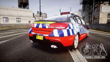 Holden VF Commodore SS Highway Patrol [ELS] para GTA 4 traseira esquerda vista