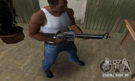 Full Black M4 para GTA San Andreas segunda tela