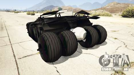 GTA 5 Batmobile v0.1 [alpha] traseira vista lateral esquerda