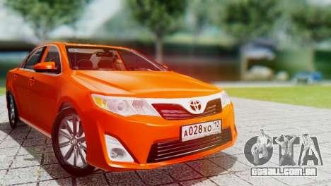Toyota Camry 2012 para GTA San Andreas