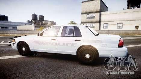 Ford Crown Victoria Bohan Police [ELS] unmarked para GTA 4 esquerda vista