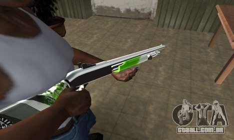 Green Lines Shotgun para GTA San Andreas