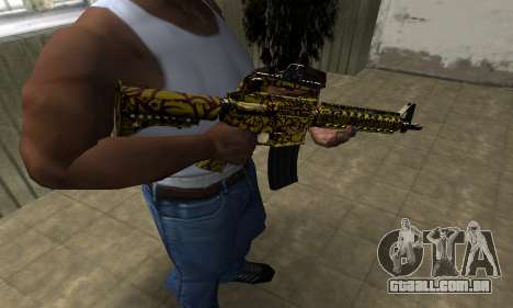 Yellow Jungle M4 para GTA San Andreas segunda tela
