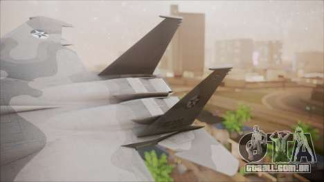 F-15S MTD Grabacr (8492nd) Ace Combat 5 para GTA San Andreas traseira esquerda vista