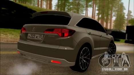 Acura RDX 2009 para GTA San Andreas esquerda vista