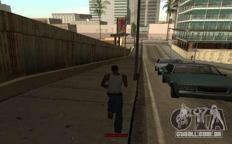 SprintBar para GTA San Andreas quinto tela