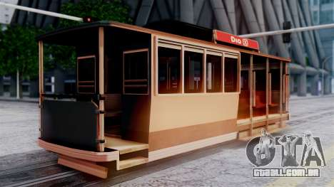 New Tram para GTA San Andreas esquerda vista