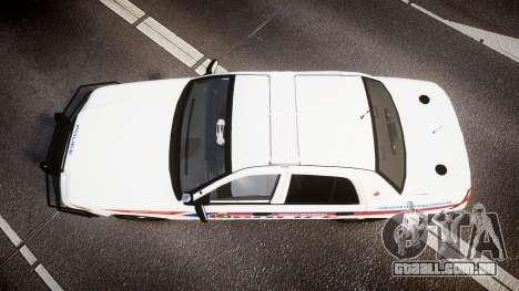 Ford Crown Victoria Bohan Police [ELS] WL para GTA 4 vista direita