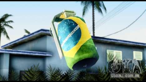 Brasileiro Grenade para GTA San Andreas terceira tela
