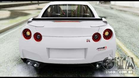 Nissan GT-R R35 2012 para GTA San Andreas vista interior