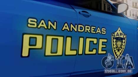 Hunter Citizen SAPD IVF para GTA San Andreas vista direita