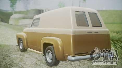GTA 5 Vapid Slamvan para GTA San Andreas esquerda vista