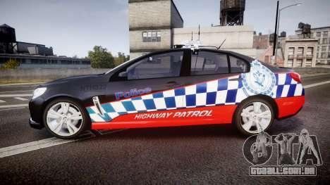 Holden VF Commodore SS Highway Patrol [ELS] para GTA 4 esquerda vista
