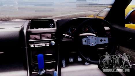 Nissan Skyline R34 para GTA San Andreas traseira esquerda vista