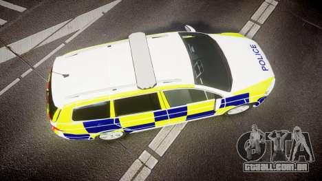 Volkswagen Passat B7 North West Police [ELS] para GTA 4 vista direita