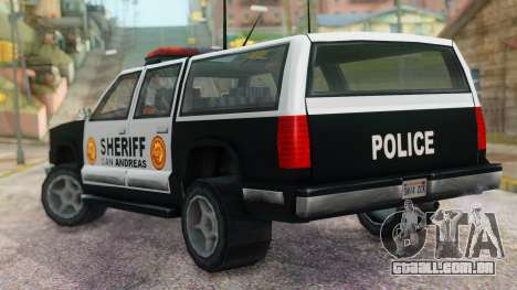 Police 4-door Yosemite para GTA San Andreas esquerda vista
