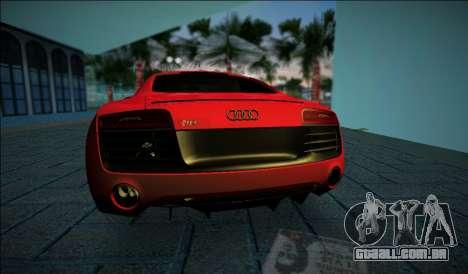 Audi R8 V10 Plus 2014 para GTA Vice City vista traseira esquerda