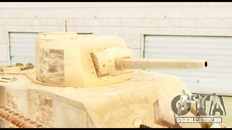 M4 Sherman 75mm Gun Desert para GTA San Andreas vista direita