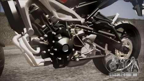Yamaha MT-09 para GTA San Andreas vista traseira