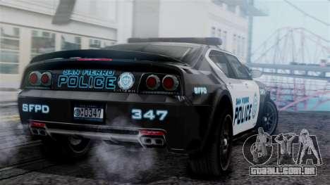 Hunter Citizen Police SF IVF para GTA San Andreas esquerda vista
