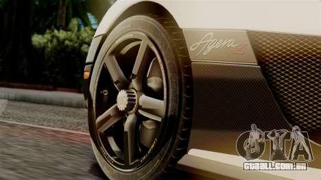 NFS Rivals Koenigsegg Agera R Racer para GTA San Andreas vista direita