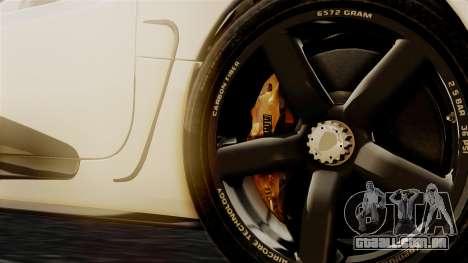 NFS Rivals Koenigsegg Agera R Racer para GTA San Andreas traseira esquerda vista