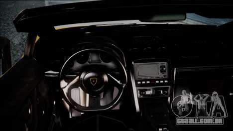 Lamborghini Gallardo LP570-4 Spyder 2012 para GTA San Andreas vista direita