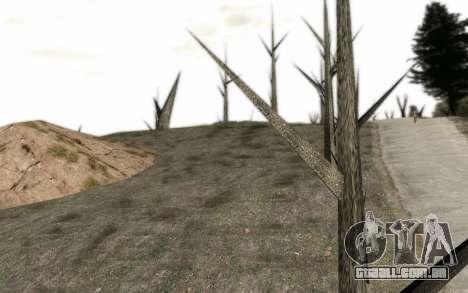 Árvores sem folhas para GTA San Andreas segunda tela