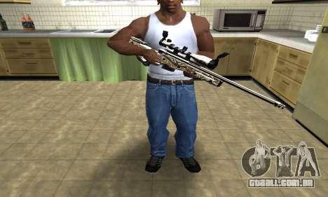 Gold Dragon Sniper Rifle para GTA San Andreas terceira tela