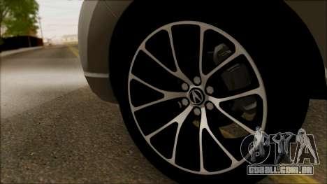Acura RDX 2009 para GTA San Andreas vista traseira