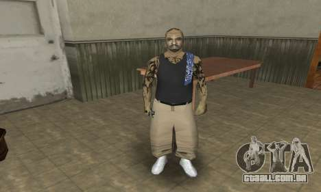 Rifa Skin Third para GTA San Andreas terceira tela