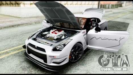 Nissan GT-R R35 2012 para GTA San Andreas vista traseira