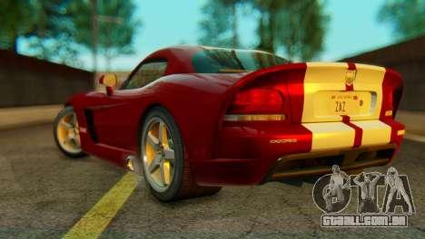 Dodge Viper SRT10 para GTA San Andreas esquerda vista