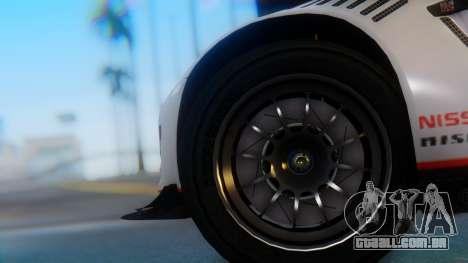 Nissan GT-R GT1 Sumo para GTA San Andreas traseira esquerda vista