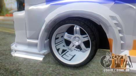 Nissan Urvan NV350 para GTA San Andreas traseira esquerda vista