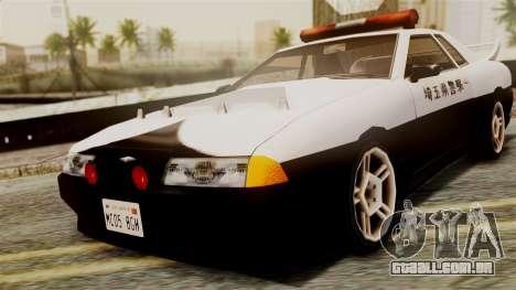 Elegy Saitama Prefectural Police para GTA San Andreas traseira esquerda vista