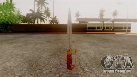 GTA 5 Antique Cavalry Dagger v1 para GTA San Andreas segunda tela