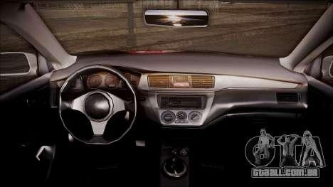 Mitsubishi Lancer Evolution VIII Yatogami Itasha para GTA San Andreas vista direita