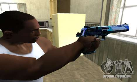 Blue Lines Deagle para GTA San Andreas