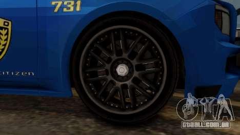 Hunter Citizen v2 IVF para GTA San Andreas traseira esquerda vista