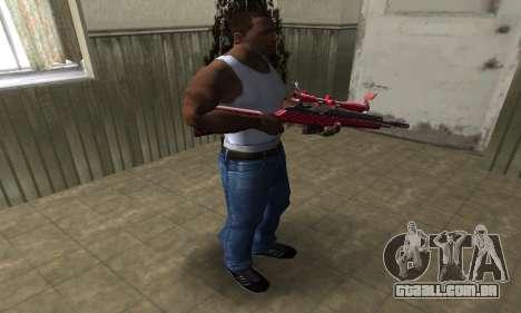 Red Romb Sniper Rifle para GTA San Andreas terceira tela