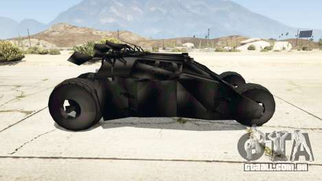 GTA 5 Batmobile v0.1 [alpha] vista lateral esquerda