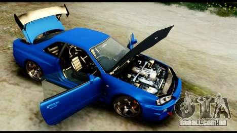 Nissan Skyline GT-R (BNR34) Tuned para GTA San Andreas vista traseira