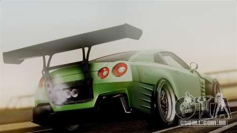 Nissan GT-R R35 Bensopra 2013 para GTA San Andreas esquerda vista