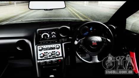 Nissan GT-R R35 2012 para GTA San Andreas vista direita