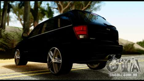 Jeep Grand Cherokee SRT8 Restyling M Final para GTA San Andreas esquerda vista