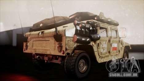 Polish HMMWV para GTA San Andreas traseira esquerda vista