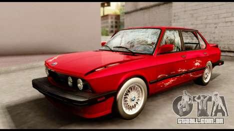 BMW M5 E28 1985 NA-spec para GTA San Andreas vista superior