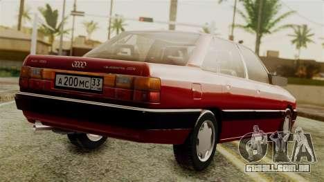 Audi 200 Quattro para GTA San Andreas esquerda vista