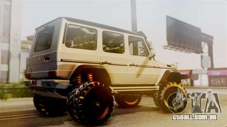 Mercedes-Benz G500 4x4 para GTA San Andreas esquerda vista